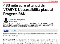 170.000€ raised. BAN Veneto appreciates its accessibility