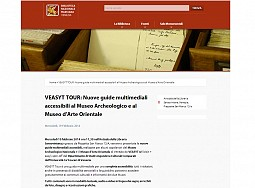 VEASYT Tour: new multimedia guides available at the Archaeological Museum and the Museum of Oriental Art