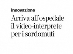 Arriva all'ospedale il video-interprete per sordi