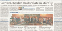 Giovani, 22 idee trasformate in start up