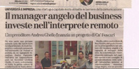 The angel manager of the business is investing in remote interpreting