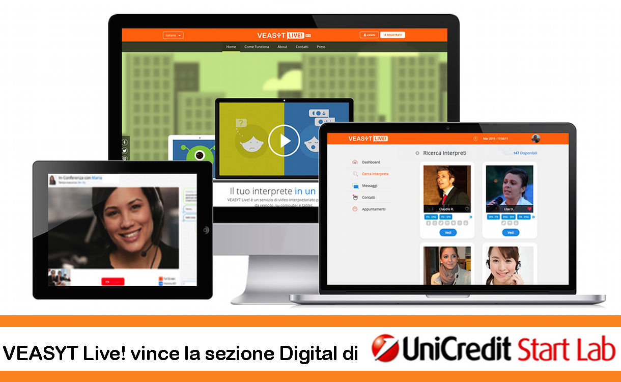 VEASYT Live!, video-interpretariato, vince il premio UniCredit Start Lab
